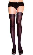 2016 Sexy Women Silicone Stay Up Thigh-Highs Black Girl Silk Stockings/Pantyhose