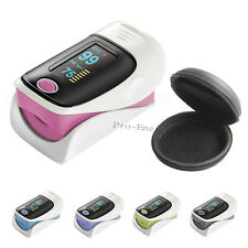 With Case Finger Pulse Oximeter OLED SpO2 Blood Oxygen PR Heart Rate Oxymeter