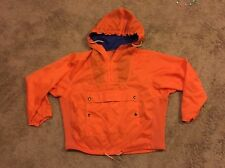Vintage Calvin Klein Zip It Up Anorak Orange Poncho Jacket VTG