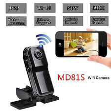 Mini Web WIFI IP Camera Cam Hidden Spy Motion Detection MD81S Built-In Antenna