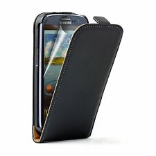 Ultra Slim BLACK Leather Case Cover Pouch For Samsung Galaxy i9301 S3 Neo