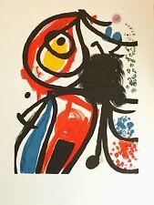 Joan Miro lithographie sur velin signée art abstrait abstraction surréalisme