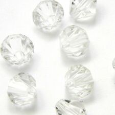 Lot of 50 Big Plastic Acrylic 10mm Double Cone Faceted Bicone Diamond Beads