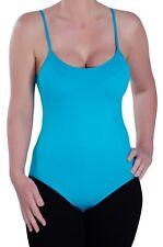Womens Plain Casual Sleeveless Strappy Skinny Fit Stretch Bodysuit Leotard