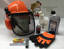 Chainsaw Starter Kit Helmet, Gloves, Oils, Mixing Bottle Ideal For STIHL User