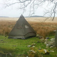 FOUR MAN TIPI PYRAMID TENT - OLIVE - Camping Shelter Military Hiking Festival