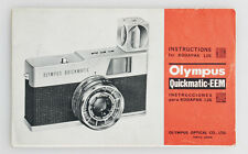 OLYMPUS QUICKMATIC EEM INSTRUCTIONS MANUAL