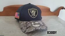 OAKLAND RAIDERS New Era 39THIRTY Salute To Service Stretch Cap Hat L/XL