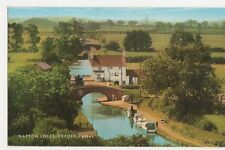 Napton Locks, Oxford Canal Old Postcard, B289