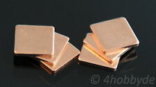 6 Kupferplättchen 1,5mm Kupferpad Wärmeleiter CPU Wärmeleitplättchen Wärme Pad