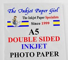 A5 240g Double Sided Gloss/Matte Photo Paper  30 Sheets