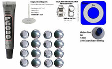 Fabric Cover Button Earrings 12mm  DIY KIT Stud Stainless Steel 100 New Style