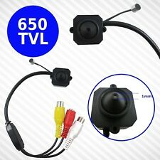 TELECAMERA SPIA SPY CAMERA MINI MICRO CAM 650TVL COLORI AUDIO MICROFONO 1MM