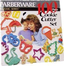 NEW IN BOX FARBERWARE 100 PIECE COOKIE CUTTER SET BAKE WARE BAKING CHRISTMAS