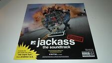 MTV JACKASS Soundtrack~Andrew WK~Promo Poster Flat~12x12 Double Sided~NM~2002