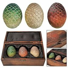 *NEW* HBO Game of Thrones Authentic Prop - Dragon Egg Collector Wooden Box Set