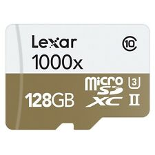 LEXAR PROFESSIONAL 128GB GB 1000x class 10 HIGH PERFORMANCE MICRO SDHC 150 MB / s
