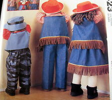 Craft Pattern CLOTHES for Time Out Pouting DOlls cowboy bunny sleeper dress