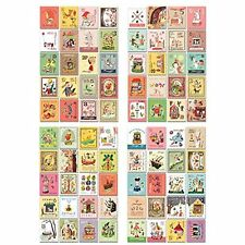 4 Sheets 80pcs Deco Craft Stamp Stickers Diary Scrapbook Gift (Childs Vintage)