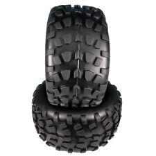 2x RC 1/10 Monster Truck Stone Patterns Rubber Tire Big Foot Truggy Black