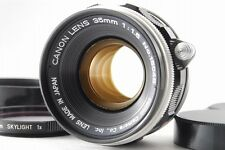 【Rare!/Mint】 Canon Rangefinder 35mm f/1.5 Lens for Leica L39 Screw w/Hood #2427