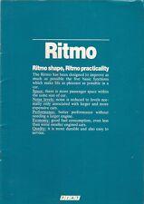 FIAT RITMO 1981-82 irlandese delle vendite sul mercato opuscolo 60 65 CL 85 SUPER 105 TC