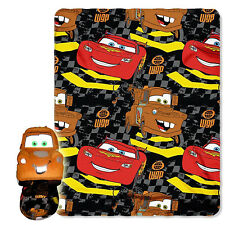 Disney Cars 2, Tow Mater 40-Inch-by-50-Inch Fleece Blanket with Character Pillow