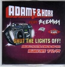(BR347) Adam & Horx ft Redman, Shut The Lights Off! - DJ CD