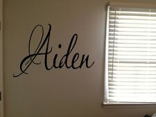Custom Aiden Boys Room Name Nursery Baby Kids Vinyl Wall Art Quote Sticker