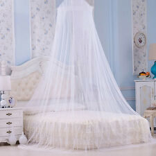 UK Bed Canopy White Mosquito Net Girls Bedroom Curtain Dome princess canopy New