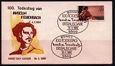 """BRD FDC MiNr 1033 (6g)"""" 100. aniversario del accidente de Anselme fuego Bach"""" - malerei-arte -"""