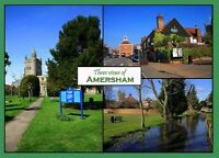 Old Amersham postcards, new, unposted, from 5p per card, any quantity