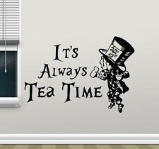Alice In Wonderland Wall Decal Tea Time Kitchen Vinyl Sticker Art Poster 129crt