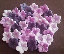 30 Purple Edible Sugar Flowers Cake Cupcake Toppers