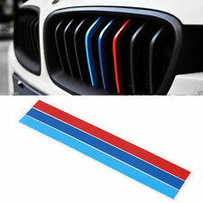 3-Color Front Grille Grill Vinyl Strip Sticker Decal For BMW M3 M5 E46 E60 E90