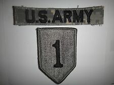 Set Of 2 US Army Patches With Velcro Backs: U.S. ARMY + 1st INFANTRY Division