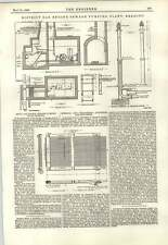 1893 District Gas Engine Sewage Pumping Plant Reading Engineering Drawing