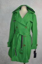 Tommy Hilfiger  size Petite L   Hooded Double breasted belted Trench Coat   NWOT