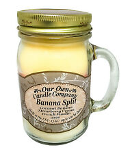 Banana Split Scented Candle in 13 oz Mason Jar by Our Own Candle Company