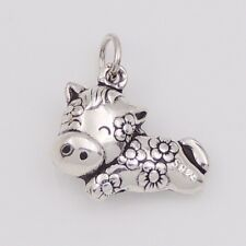S925 Sterling Silver Chinese Zodiac 16x12mm Year Of Horse Bracelet Pendant