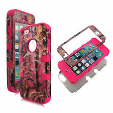New Pink Sawgrass camo for pn stp Hybrid Tuff for Apple iPhone SE Case Cover SE