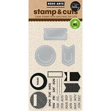 Hero Arts - Kelly's Planner Clips - Stamp & Cut Clear Stamp Set DC153 -#196