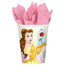 8 Disney Princess Beauty & the Beast Belle Birthday Party 9oz Paper Cups