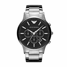 Emporio Armani Sportivo Watch Silver / Black Quartz Analog Men's Watch AR2460
