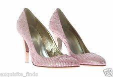 New Versace Pink metallic Snake print pumps shoes 39 - 9