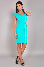 Women's Shift Dress V Neck Sleeveless Bubble Tunic Party Coctail Sizes 8-18 8437
