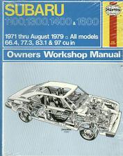 SUBARU 1100 1300 1400 1600 1971-8/1979 HAYNES REPAIR MANUAL 237