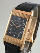 •Jaeger-LeCoultre Reverso 18K Pink Gold 250.2.86  Manual Black Dial Watch•