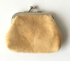 BRAND NEW (Beige) ladies Small Fur Coin Purse Clip shut, UK SELLER