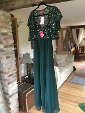 Sequin Evening Dress plus sequin bolero by Kaleidoscope - Size 16/18